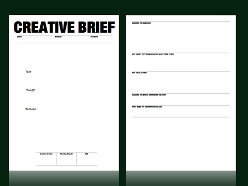 A totally subjective creative brief template review the for Agency pitch template