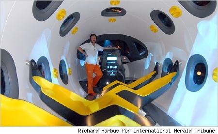 spaceship interior by marc newson the planning lab